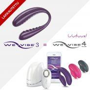 We-Vibe 3 Kauko-ohjattava Vibraattori Pareille