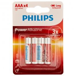 Philips LR03 AAA Alkaliparistot 4 kpl