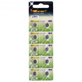 Hi-Watt Alkaliparistot AG3 - LR41 10 kpl