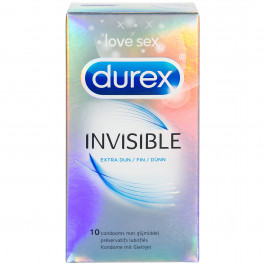 Durex Invisible Extra Ohuet Kondomit 10 kpl