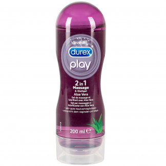 Durex Play 2-In-1 Hierontageeli ja Liukuvoide 200 ml