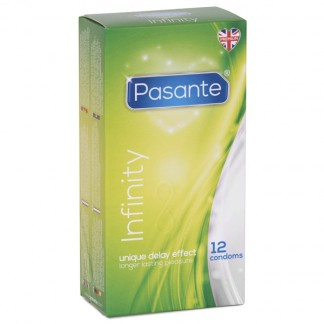 Pasante Infinity Delay Kondomit 12 kpl