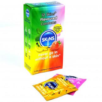 Skins Erimakuiset Kondomit 12 kpl.