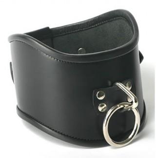 Strict Leather Locking Posture Collar Kaulapanta