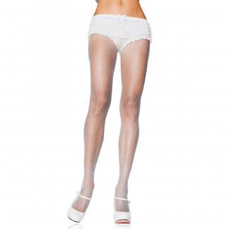 Leg Avenue Plus Size Valkoiset Verkkosukkahousut