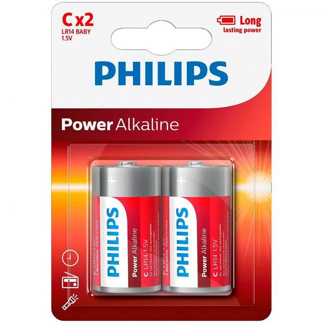 Philips LR14 C Alkaliparistot 2 kpl