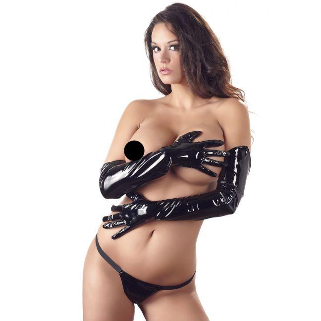 Black Level Pitkät PVC-hansikkaat