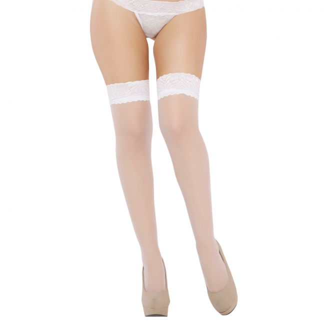Seven til Midnight Thigh Highs Valkoiset Stay-up Sukat