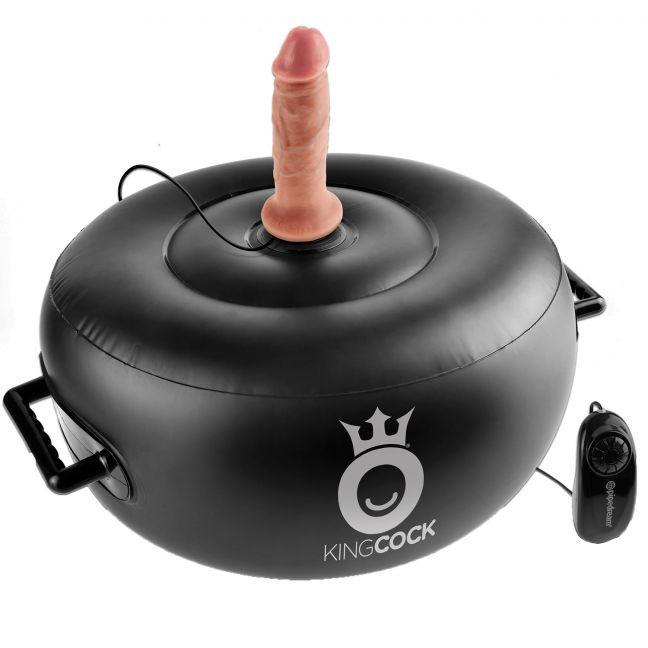 King Cock Värisevä Puhallettava Hot Seat