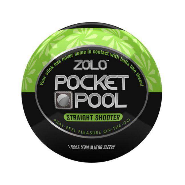 Zolo Pocket Pool Straight Shooter Itsetyydytin