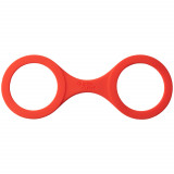 Quickie Cuffs Keskikokoiset Punaiset Silikonikäsiraudat