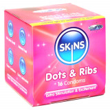 Skins Dot & Rib Kondomit 16 kpl