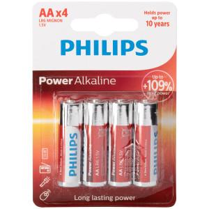 Philips LR06 AA Alkaliparistot 4 kpl
