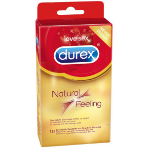 Durex Natural Feeling Lateksittomat Kondomit 10 kpl
