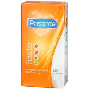 Pasante Taste Mixed Flavours Makukondomit 12 kpl