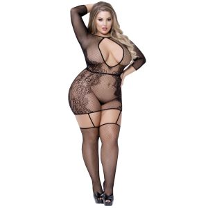 Seven til Midnight Plus Size Pitsinen Bodystocking