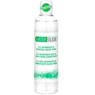 Waterglide Aloe Vera 2-in-1 Hierontaöljy ja Liukuvoide 300 ml