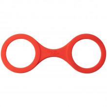 Quickie Cuffs Keskikokoiset Punaiset Silikonikäsiraudat  1