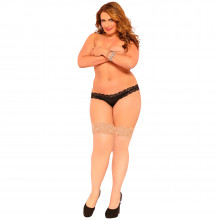 Seven til Midnight Plus Size Nude Thigh Highs Sukat  1
