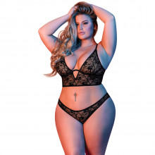 Magic Silk Plus Size Longline Rintaliivisetti