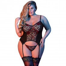 Magic Silk Plus Size Merry Widow Chemise Setti