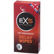 EXS Endurance Viivästyspyyhkeet 6 kpl Kuva tuotepakkauksesta 1