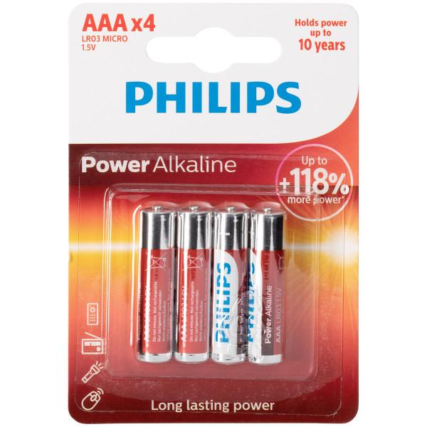 Philips LR03 AAA Alkaliparistot 4 kpl  1