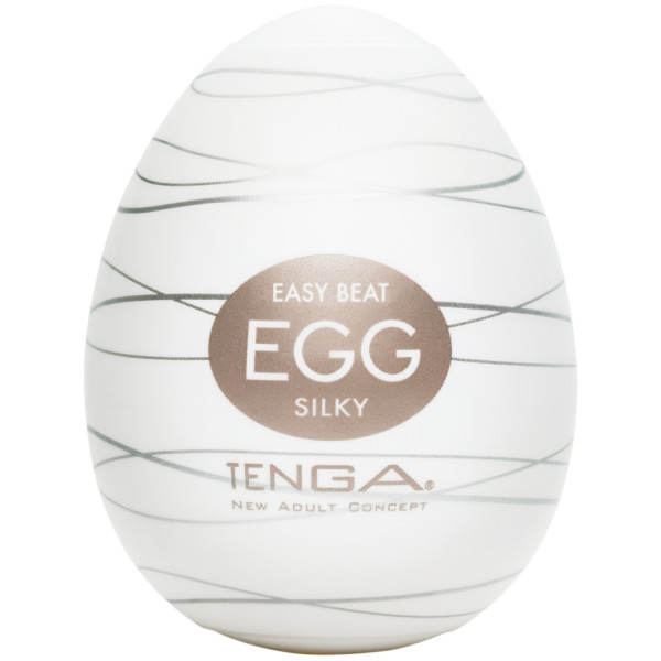 TENGA Egg Silky Masturbaattori tuote kädessä 1