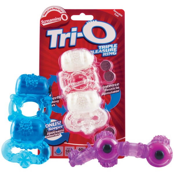 Screaming O TriO Värisevä Tuplapenisrengas  3