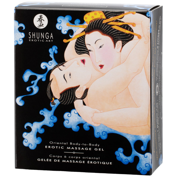 Shunga Body Slide Hierontageelisetti 2 x 225 ml  10