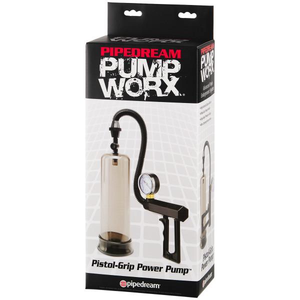 Pump Worx Pistol Grip Penispumppu Painemittarilla kuva tuotepakkauksesta 90