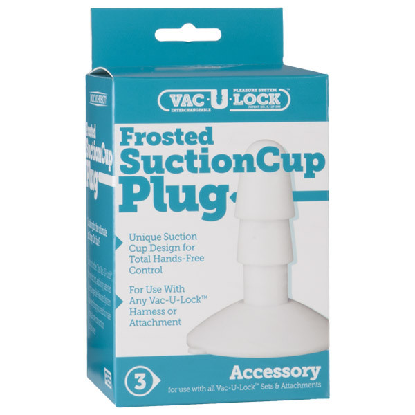 Vac-U-Lock Frosted Suction Cup Plug
