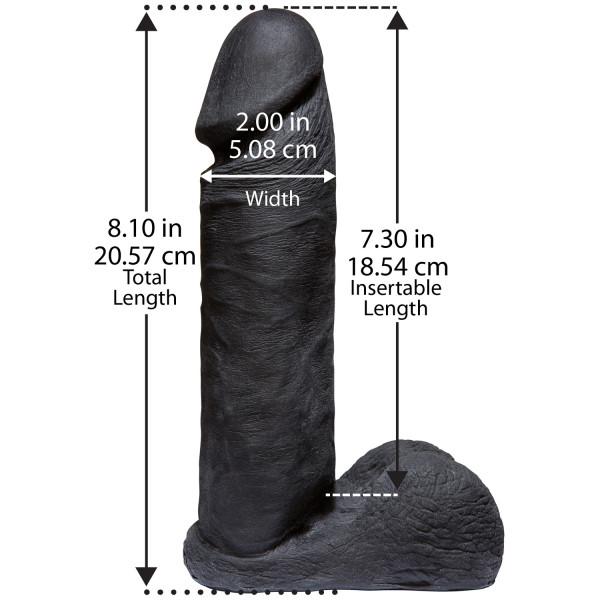 Vac-U-Lock CodeBlack Aidonkaltainen Dildo 20 cm  2