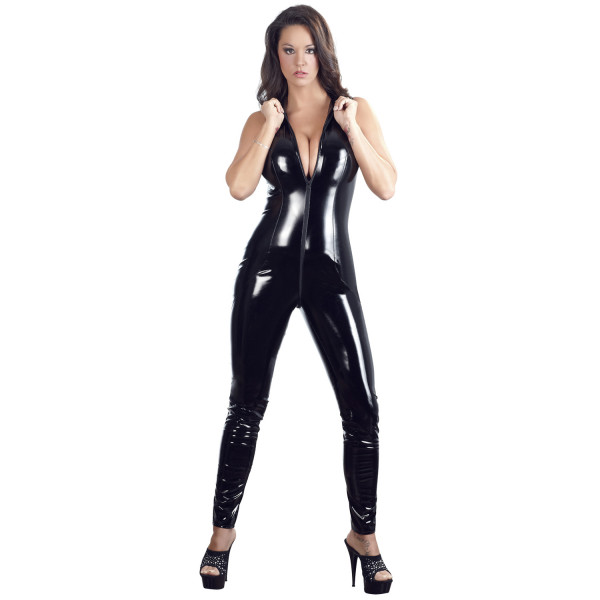 Black Level PVC-jumpsuit Kauluksella  1