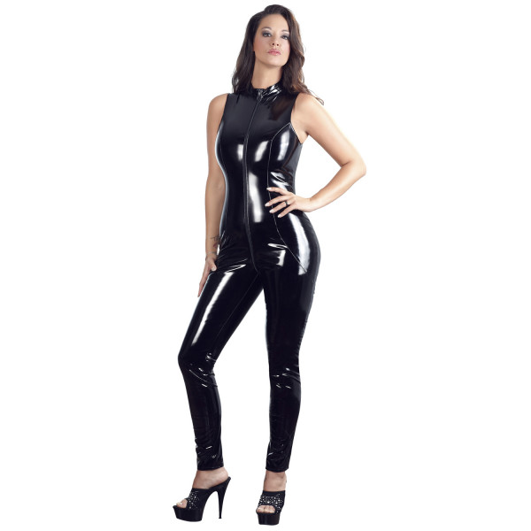 Black Level PVC-jumpsuit Kauluksella  2