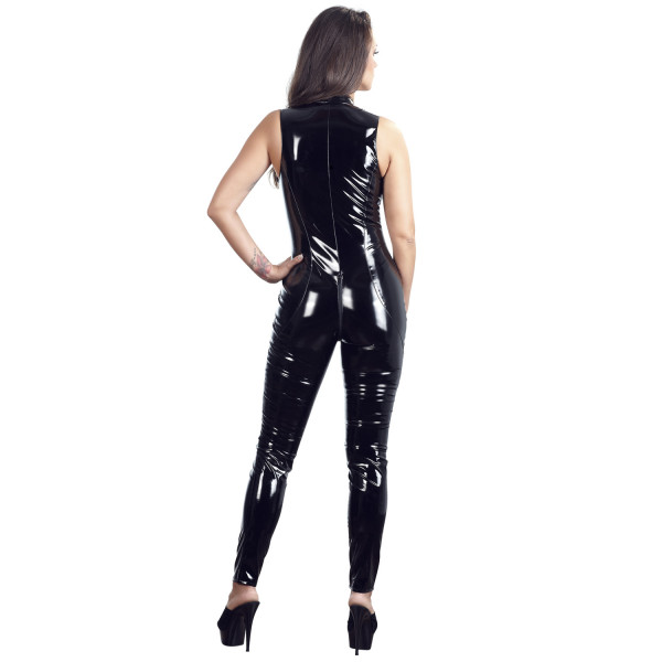 Black Level PVC-jumpsuit Kauluksella  3