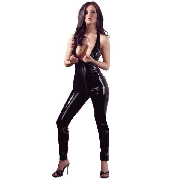 Black Level PVC-jumpsuit Vetoketjulla  2
