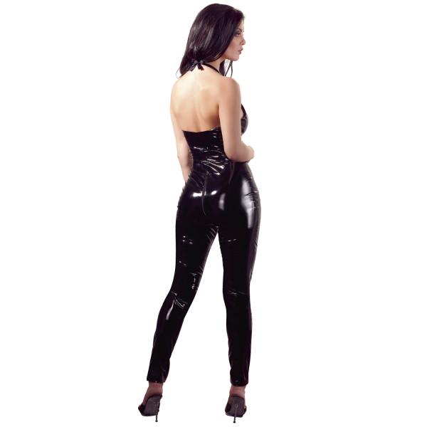 Black Level PVC-jumpsuit Vetoketjulla  3