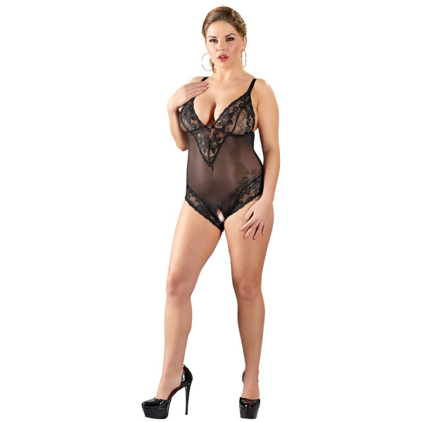 Cottelli Plus Size Haaraton Pitsinen Body  1