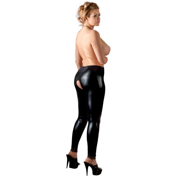 Cottelli Plus Size Haarattomat Wetlook Leggingsit