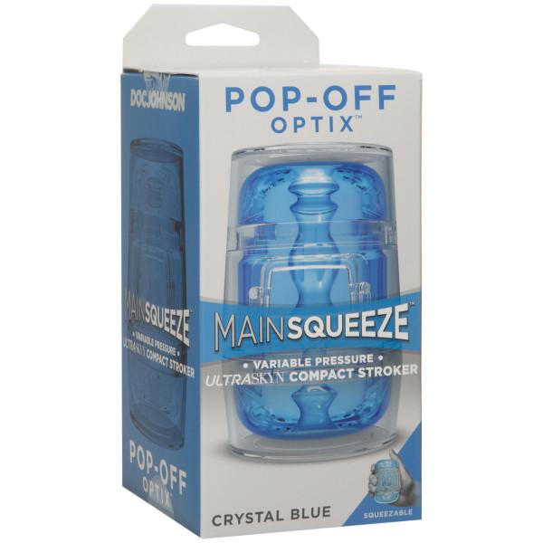Main Squeeze Pop-Off Optix Crystal Blue Masturbaattori  4