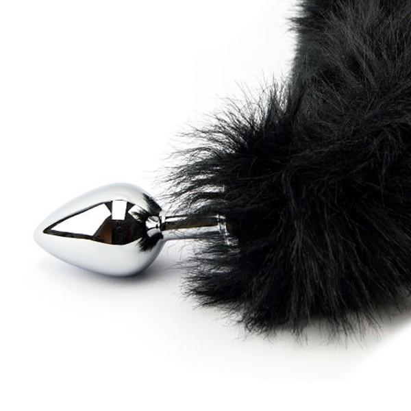 Furry Fantasy Black Panther Tail Anustappi Hännällä  3