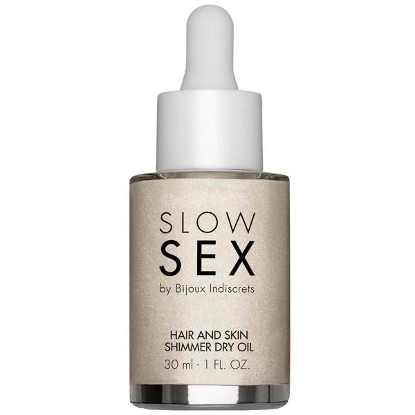 Slow Sex by Bijoux Hair and Skin Kimalleöljy 30 ml  1
