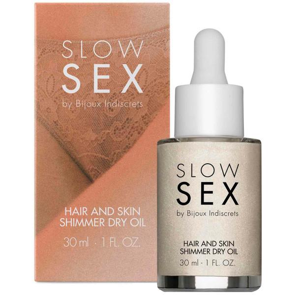 Slow Sex by Bijoux Hair and Skin Kimalleöljy 30 ml  2