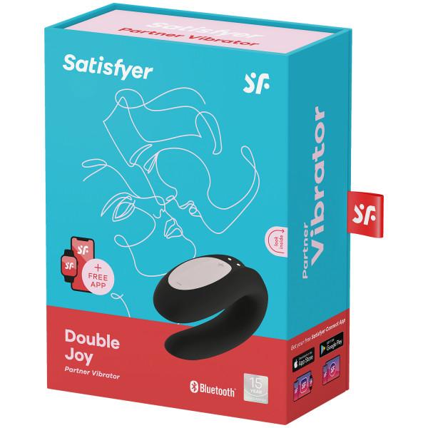 Satisfyer Double Joy Sovelluksella Ohjattava Parivibraattori kuva tuotepakkauksesta 100