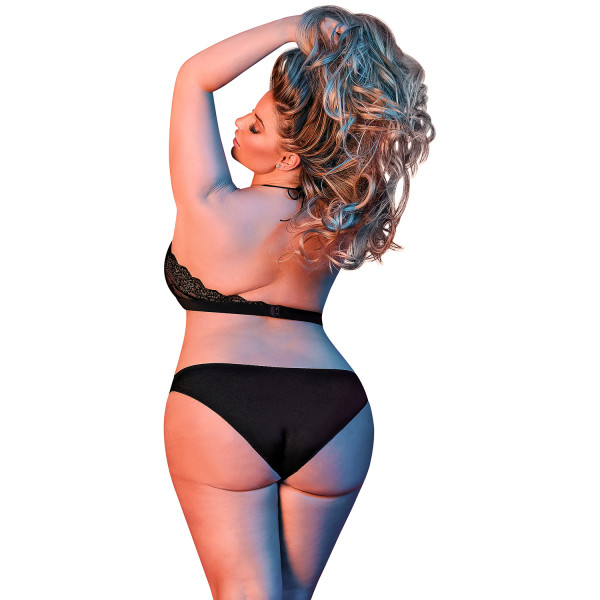 Magic Silk Plus Size Halterneck Rintaliivisetti