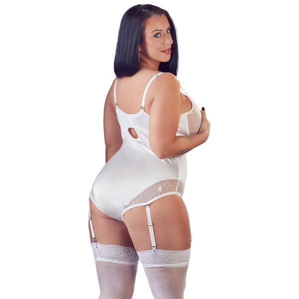 Cottelli Plus Size Valkoinen Body Pitseillä