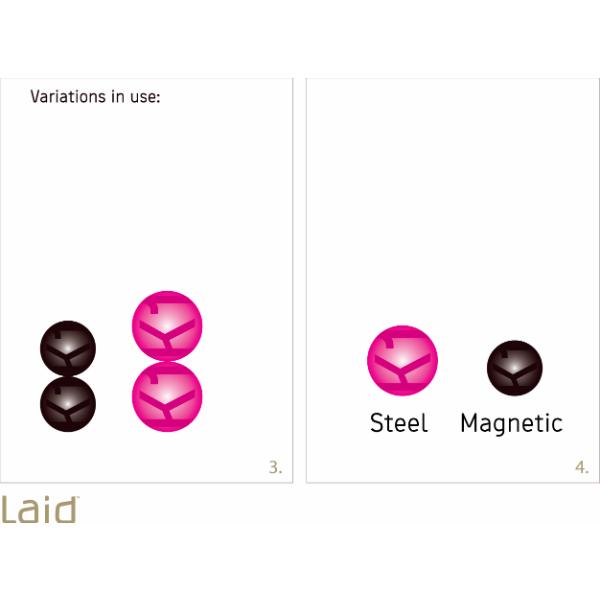 Laid K.1 Magnetic Balls Bækkenbundskugler