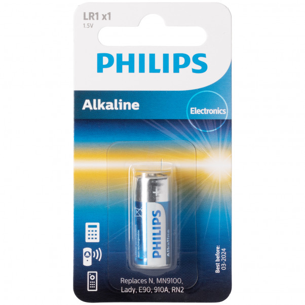 Philips Alkaline LR1 1.5V Paristot  1