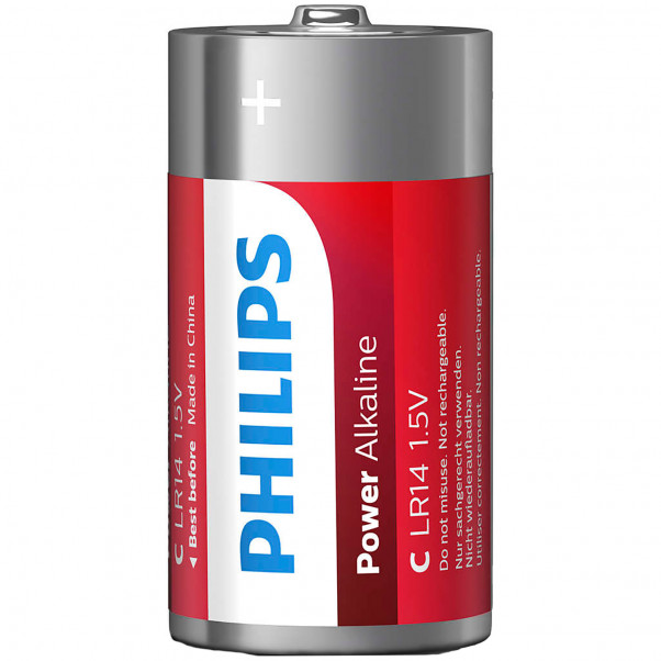 Philips LR14 C Alkaliparistot 2 kpl  2